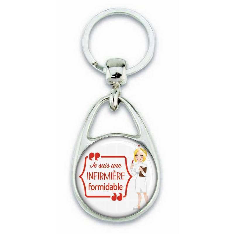 """Porte clés """"Je suis une infirmière formidable"""" - Em création"""
