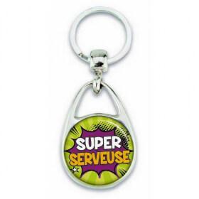 """Porte clés """"Super serveuse"""" comics"""