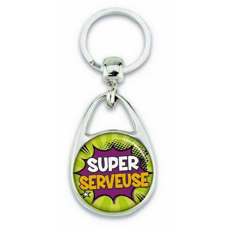 """Porte clés """"Super serveuse"""" - Em création"""