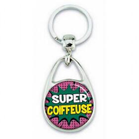 """Porte clés """"Super coiffeuse"""" - Em création"""