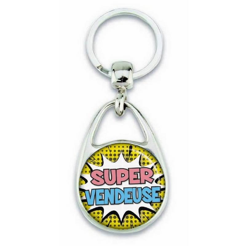 """Porte clés """"Super vendeuse"""" - Em création"""
