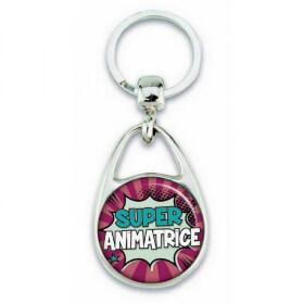 "Porte clés ""Super animatrice"" comics"