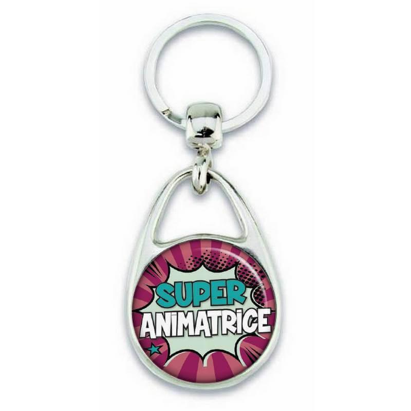 "Porte clés ""Super animatrice"" - Em création"