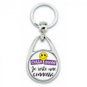 """Porte clés """"Cette année je reste une connasse"""" - Em création - Em création"""
