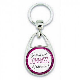 """Porte clés """"Je suis une connasse et j'adore ça!"""" - Em création"""