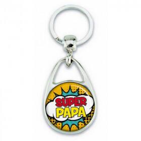 """Porte clés """" Super papa """" comics - Em création - Em création"""