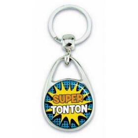 """Porte clés """"Super tonton"""" comics - Em création - Em création"""