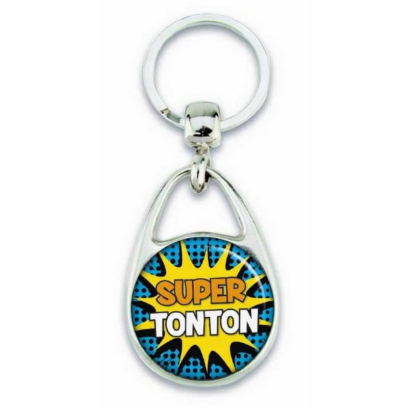 "Porte clés ""Super tonton"" comics - Em création"