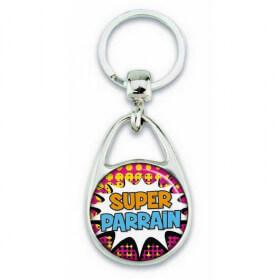 """Porte clés """"Super parrain"""" comics - Em création - Em création"""