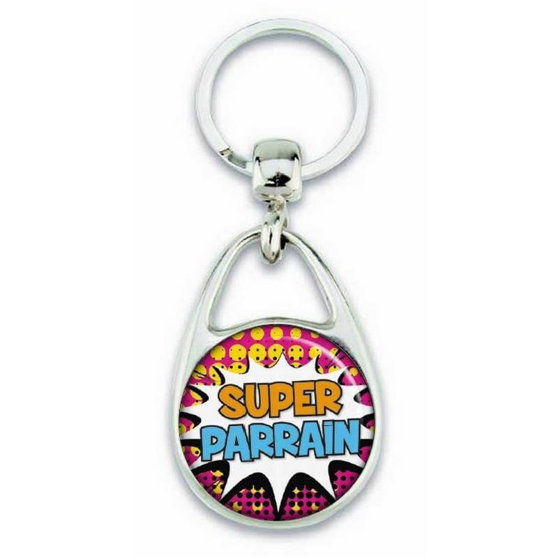 """Porte clés """"Super parrain"""" comics - Em création"""
