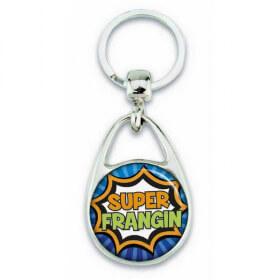 """Porte clés """"Super frangin"""" comics"""