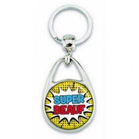 """Porte clés """"Super beauf"""" comics - Em création - Em création"""