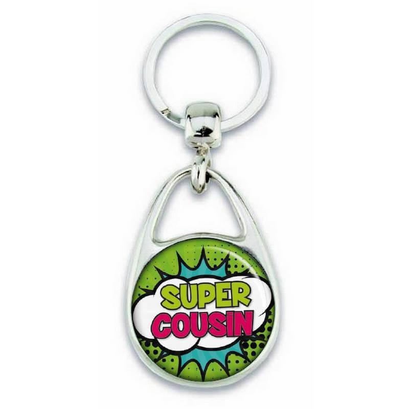 """Porte clés """"Super cousin"""" comics - Em création"""