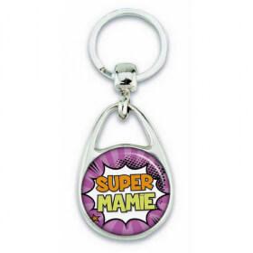 """Porte clés """"Super mamie"""""""