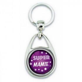 """Porte clés """"Super mamie"""" violet - Em création - Em création"""