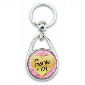 Porte clés pour une mamie en or