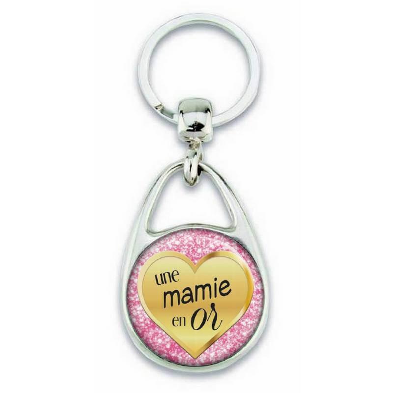 Porte clés pour une mamie en or - Em création