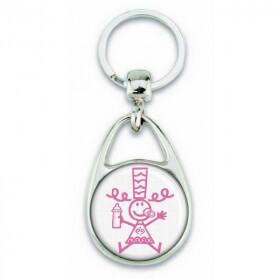 Porte clés Bigoudène enfant rose - Em création - Em création