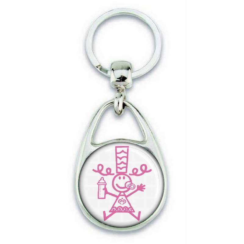 Porte clés Bigoudène enfant rose - Em création