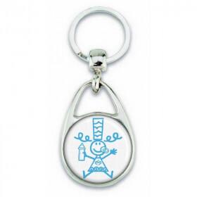 Porte clés Bigoudène enfant bleu - Em création