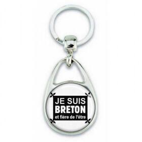 """Porte clés """"suis breton et fière de l'être"""" - Em création"""