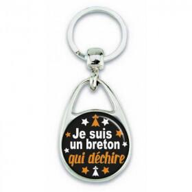 """Porte clés """"je suis breton déchire"""" - Em création"""