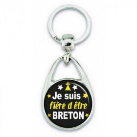 """Porte clés """"je suis fière d'être breton"""" - Em création"""