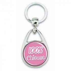 """Porte clés """"100% chieuse"""" - Em création"""