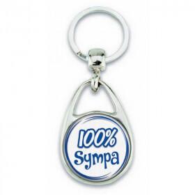 """Porte clés """"100% sympa"""" - Em création"""