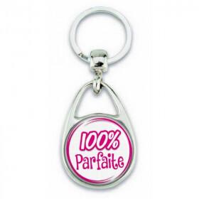 """Porte clés """"100% parfaite"""" - Em création"""