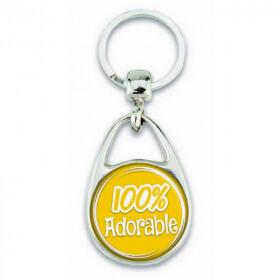"""Porte clés """"100% Adorable"""""""