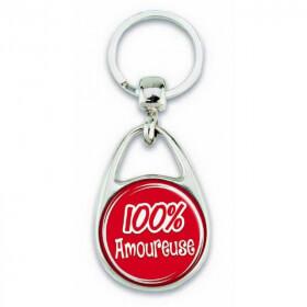 """Porte clés """"100% Amoureuse"""" - Em création"""