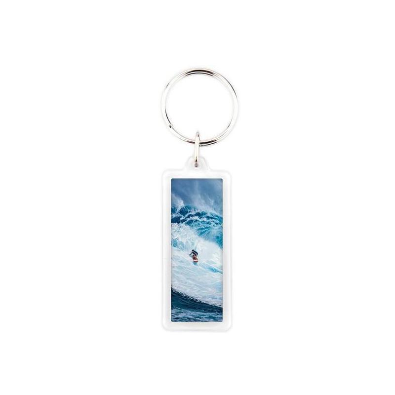 Porte clés personnalisé rectangle - Em création