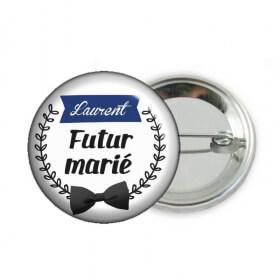 Badge futur marié personnalisé - Em création
