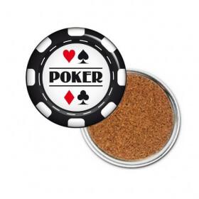 "Sous Verres ""Poker"" Jeton"