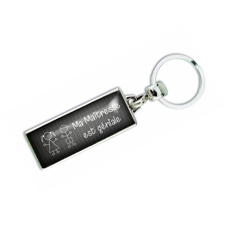 Porte-clés ma maitresse est géniale - Em création