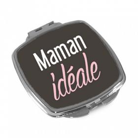 Miroir de poche à clapet 'Maman idéale' - Em création - Em création