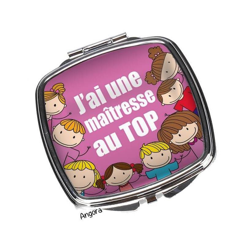 Miroir pour une maîtresse au Top - idée cadeau - miroir à clapet maîtresse - miroir de poche maîtresse