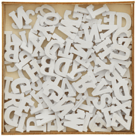 Lettres blanches de l'alphabet à peindre - lot de 104 pièces