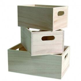 3 Casiers en bois à décorer - artemio