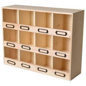 Casier de rangement en bois -Artemio - Em création