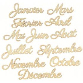 Mois de l'année à décorer - artemio