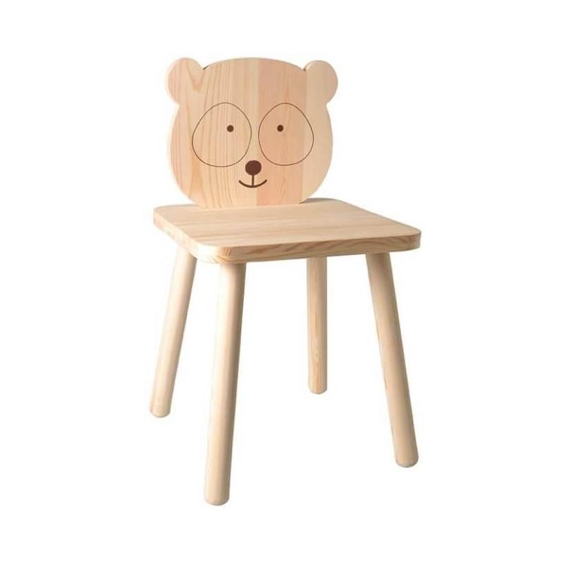 Chaise Panda en bois pour enfant - Artemio