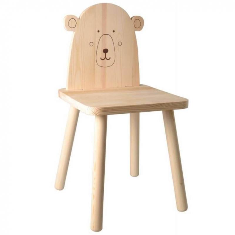 Chaise Ours en bois - Artemio