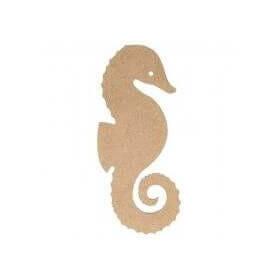 Hippocampe à décorer en bois - Artemio - Em création