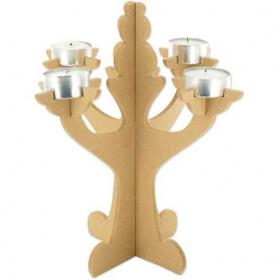 Chandelier à décorer en bois - Em création