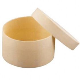 Boîte de forme ronde en bois à décorer - Em création