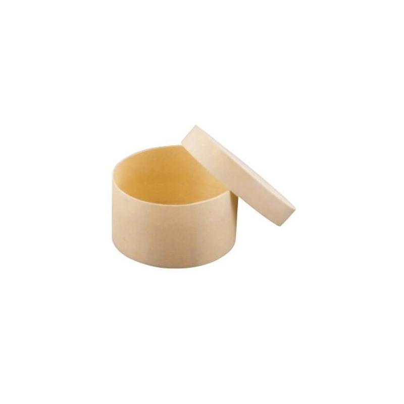 Boîte de forme ronde en bois à décorer