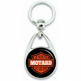 Porte-clefs Motard - Cadeau motard - Porte-clés motard - Angora - Em création