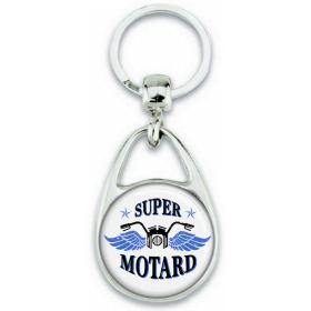 Porte-clés Motard - Cadeau motard - Super motard - Angora - Em création